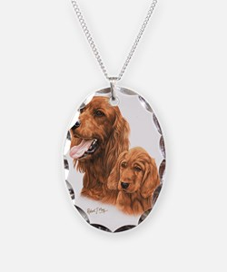 Irish Setter  Pup Necklace