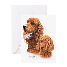 Irish Setter  Pup Greeting Card