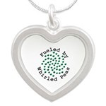 Fueled by Whirled Peas Silver Heart Necklace