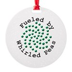 Fueled by Whirled Peas Round Ornament