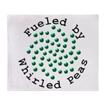 Fueled by Whirled Peas Throw Blanket