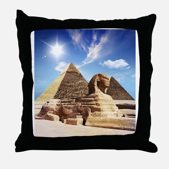 Sphinx and Egyptian Pyramids Throw Pillow