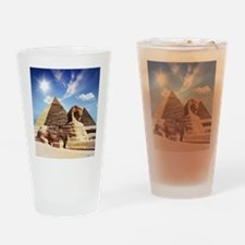 Sphinx and Egyptian Pyramids Drinking Glass