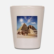 Sphinx and Egyptian Pyramids Shot Glass