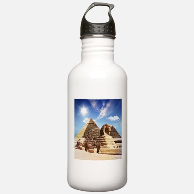 Sphinx and Egyptian Pyramids Water Bottle