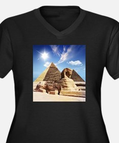 Sphinx and Egyptian Pyramids Plus Size T-Shirt