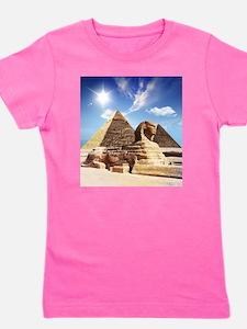 Sphinx and Egyptian Pyramids Girl's Tee
