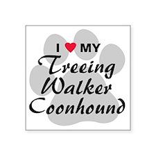 """treeing-walker-coonhound Square Sticker 3"""" x 3"""""""