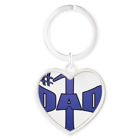 Number one dad Heart Keychain