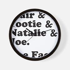 FACTSBLACK Wall Clock
