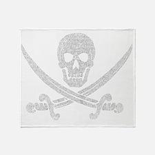jolly_roger_2 Throw Blanket