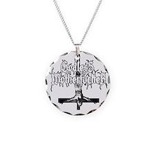 GODLESS-MF2c-white Necklace
