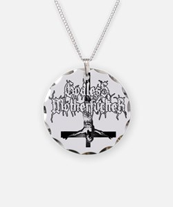 GODLESS-MF2c-white Necklace