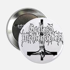 """GODLESS-MF2c-white 2.25"""" Button"""