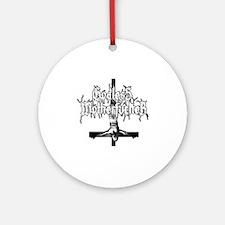 GODLESS-MF2c-white Round Ornament