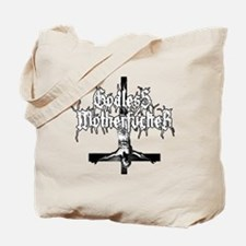 GODLESS-MF2c-white Tote Bag