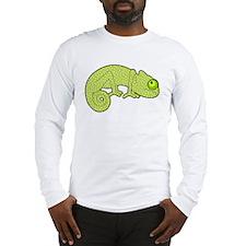 Cute Green Polka Dot Chameleon Long Sleeve T-Shirt