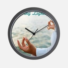 living lightly blue Wall Clock