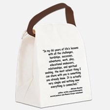 Kashia Connected Quote Canvas Lunch Bag