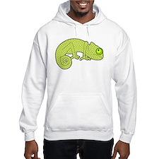 Cute Green Polka Dot Chameleon Hoodie