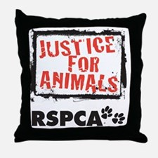 RSPCA Justice for Animals Throw Pillow