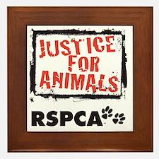 RSPCA Justice for Animals Framed Tile