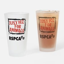 RSPCA Justice for Animals Drinking Glass