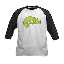 Cute Green Polka Dot Chameleon Baseball Jersey