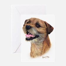Border Terrier b Greeting Card
