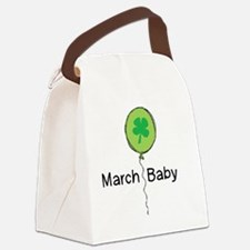 MarBabyBLKlines Canvas Lunch Bag