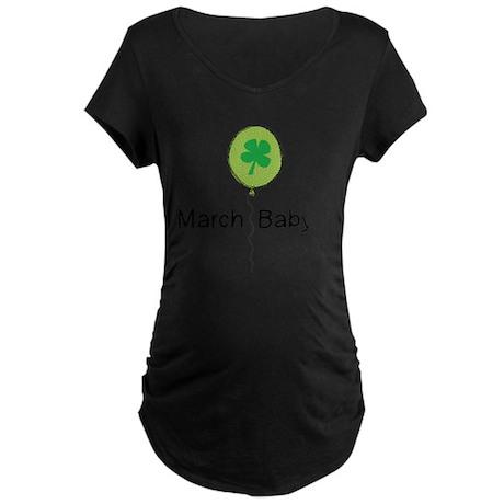 MarBabyBLKlines Maternity Dark T-Shirt