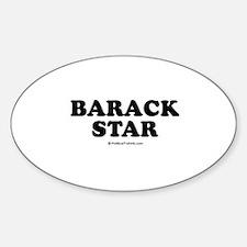 Barack Star Oval Decal
