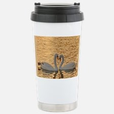 SwansAtSunset_blanket Travel Mug
