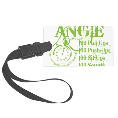 ANGIE GREEN 1 Large Luggage Tag