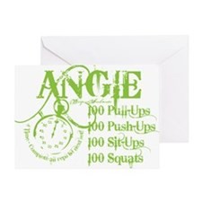 ANGIE GREEN 1 Greeting Card