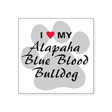 "Alapaha Blue Blood Bulldog Square Sticker 3"" x 3"""