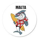 Malta Round Car Magnet