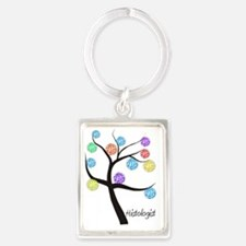 Histologist Tree Portrait Keychain