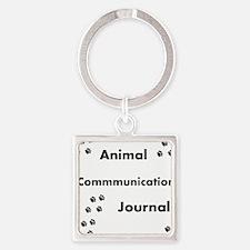 Animal Communication Journal Black Square Keychain