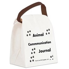 Animal Communication Journal Blac Canvas Lunch Bag