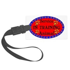 Service Animal IN TRAINING Paw P Luggage Tag