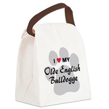 olde-english-bulldogge Canvas Lunch Bag