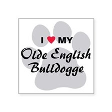 "olde-english-bulldogge Square Sticker 3"" x 3"""