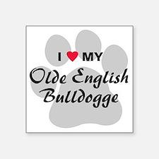 """olde-english-bulldogge Square Sticker 3"""" x 3"""""""