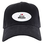I Love Barack Obama Black Cap