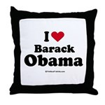 I Love Barack Obama Throw Pillow
