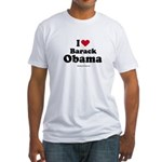 I Love Barack Obama Fitted T-Shirt