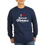 I Love Barack Obama Long Sleeve Dark T-Shirt
