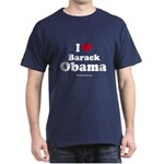 I Love Barack Obama Dark T-Shirt