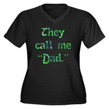 call_me_dad Women's Plus Size Dark V-Neck T-Shirt